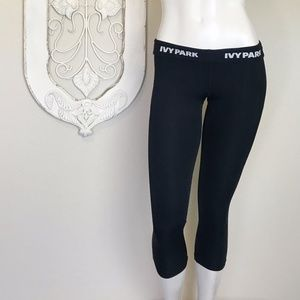 Ivy Park | Black Cropped Running Pant S